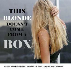 sacramento blondes love GS HAIR