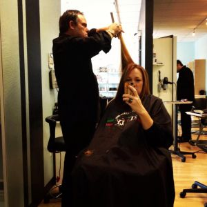 Sacramento salon owners Greg and Casey Saumure